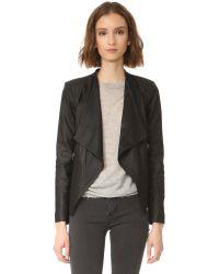 BB Dakota | Black Siena Soft Leather Jacket | Lyst