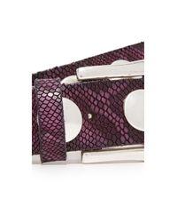 B. Belt - Multicolor Large Stud Python Print Belt - Lyst
