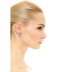 Ben-Amun - Metallic Crystal Imitation Pearl Earrings - Lyst