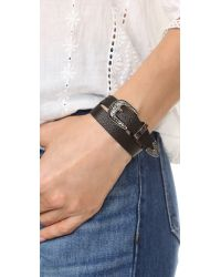 B-Low The Belt - Black Bri Bri Double Wrap Bracelet - Lyst