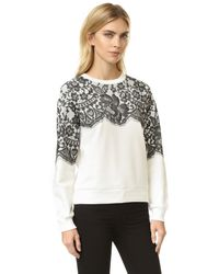 Boutique Moschino - Natural Long Sleeve Sweatshirt - Lyst
