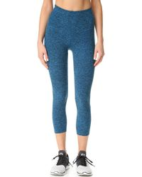 Beyond Yoga | Blue Space Dye High Waist Capri Leggings | Lyst