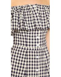 Capulet - White Spanish Off-The-Shoulder Gingham top  - Lyst