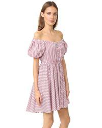Caroline Constas | Red Bardot Dress | Lyst