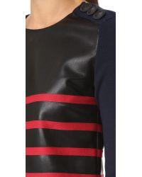 Cedric Charlier | Multicolor Stripe Leather Dress | Lyst