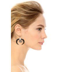 Chan Luu - Black Horn Earrings - Lyst