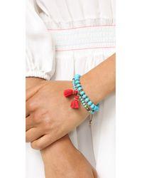 Chan Luu - Blue Go-to Tassel Bracelet - Lyst