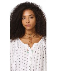 Chan Luu - Blue Drop Pendant Choker Necklace - Lyst