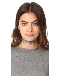 Chan Luu - Gray 3 Wrap Choker Necklace - Lyst
