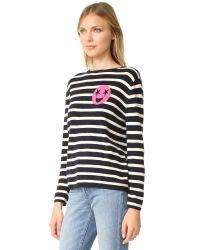 Chinti & Parker - Blue Breton Emoji Cashmere Sweater - Lyst