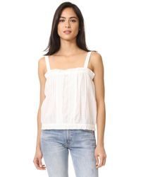 Current/Elliott   White The Lace Tank   Lyst