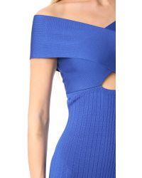 Cushnie et Ochs - Blue Off The Shoulder Pencil Dress - Lyst