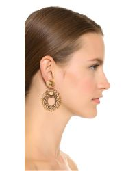 Deepa Gurnani | Metallic Deepa By Margot Earrings | Lyst