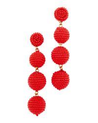 Deepa Gurnani | Red Deepa By Jane Earrings | Lyst