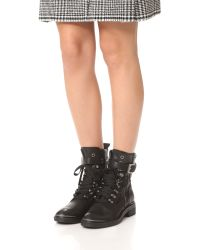 Dolce Vita | Black Avalon Combat Boots | Lyst