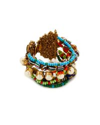 Erickson Beamon | Multicolor Imitation Pearl Safari Bracelet | Lyst