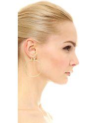 Elizabeth and James | Metallic Neri Hoop Earrings | Lyst
