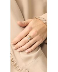 Elizabeth and James - Metallic Caleta Ring - Lyst