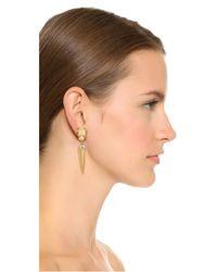 Elizabeth Cole - Metallic Kelly Earrings - Lyst