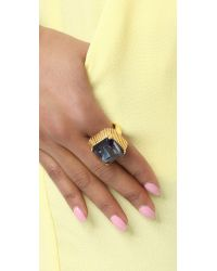 Elizabeth Cole - Blue Stacy Ring - Lyst