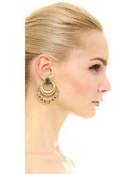 Elizabeth Cole - Metallic Heather Earrings - Lyst