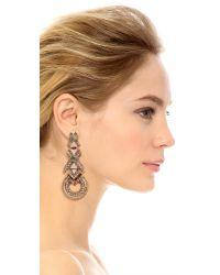 Elizabeth Cole - Metallic Xo Earrings - Lyst