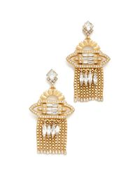 Elizabeth Cole - Metallic Velma Earrings - Lyst
