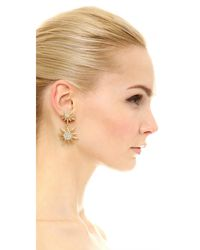 Elizabeth Cole - Metallic Bianca Earrings - Lyst
