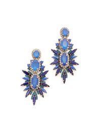Elizabeth Cole | Blue Carmella Earrings | Lyst