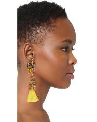 Elizabeth Cole - Multicolor Lola Tassel Earrings - Lyst