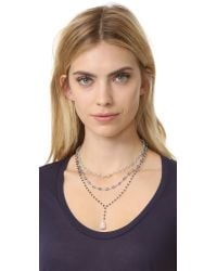 Ela Rae - Metallic Three In One Layer Midi Necklace - Lyst