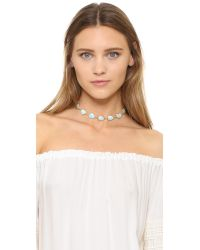Ela Rae - Blue Sadie Choker Necklace - Lyst