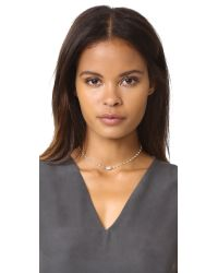 Ela Rae - Metallic Libi Petite Necklace - Lyst