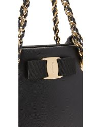 Ferragamo - Black Melike Mini Tote Bag - Lyst