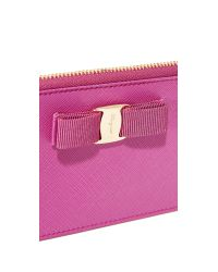Ferragamo | Pink Miss Vara Bow Coin Pouch | Lyst