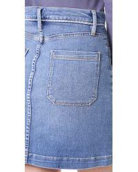 FRAME - Blue Le Patch Pocket Skirt - Lyst