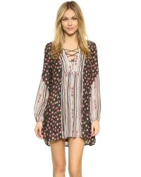 Free People | Black Rain Or Shine Printed Dress | Lyst