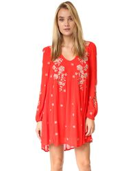 Free People | Multicolor Sweet Tennessee Embroidered Mini Dress | Lyst