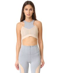 Free People | Gray Movement Fly Girl Bra | Lyst
