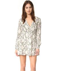 Free People | White Stealing Fire Mini Dress | Lyst