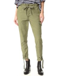 Free People | Green Don't Get Lost Utility Pants | Lyst