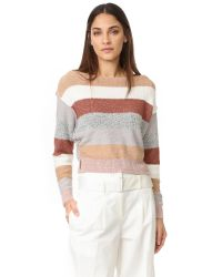 Free People | White Candy Land Sweater | Lyst