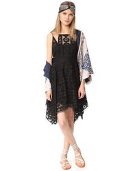 Free People - Black Just Like Honey Lace Dress - Lyst