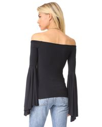 Free People - Black Birds Of Paradise Top - Lyst