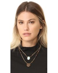 Gas Bijoux - Multicolor Scapulaire Jane Layered Necklace - Lyst