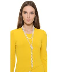 Ginette NY | White Freshwater Pearl Sautoir Necklace | Lyst