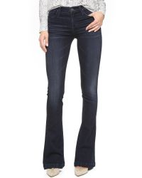 Goldsign | Blue Stella Mid Rise Flare Jeans | Lyst