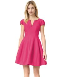 Halston - Black Dress With Full Skirt - Lyst
