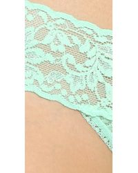 Hanky Panky - Green Signature Lace Low Rise Thong - Lyst