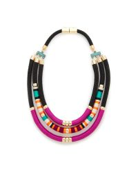 Holst + Lee | Pink Tri Strand Necklace | Lyst